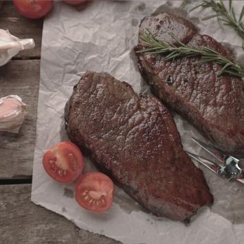 Recette faux-filet aux champignons et pommes de terre