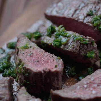 Flat Iron Steak Chimicurri