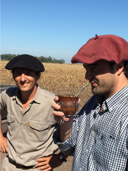 Gaucho argentin - visite d'élevage 2015