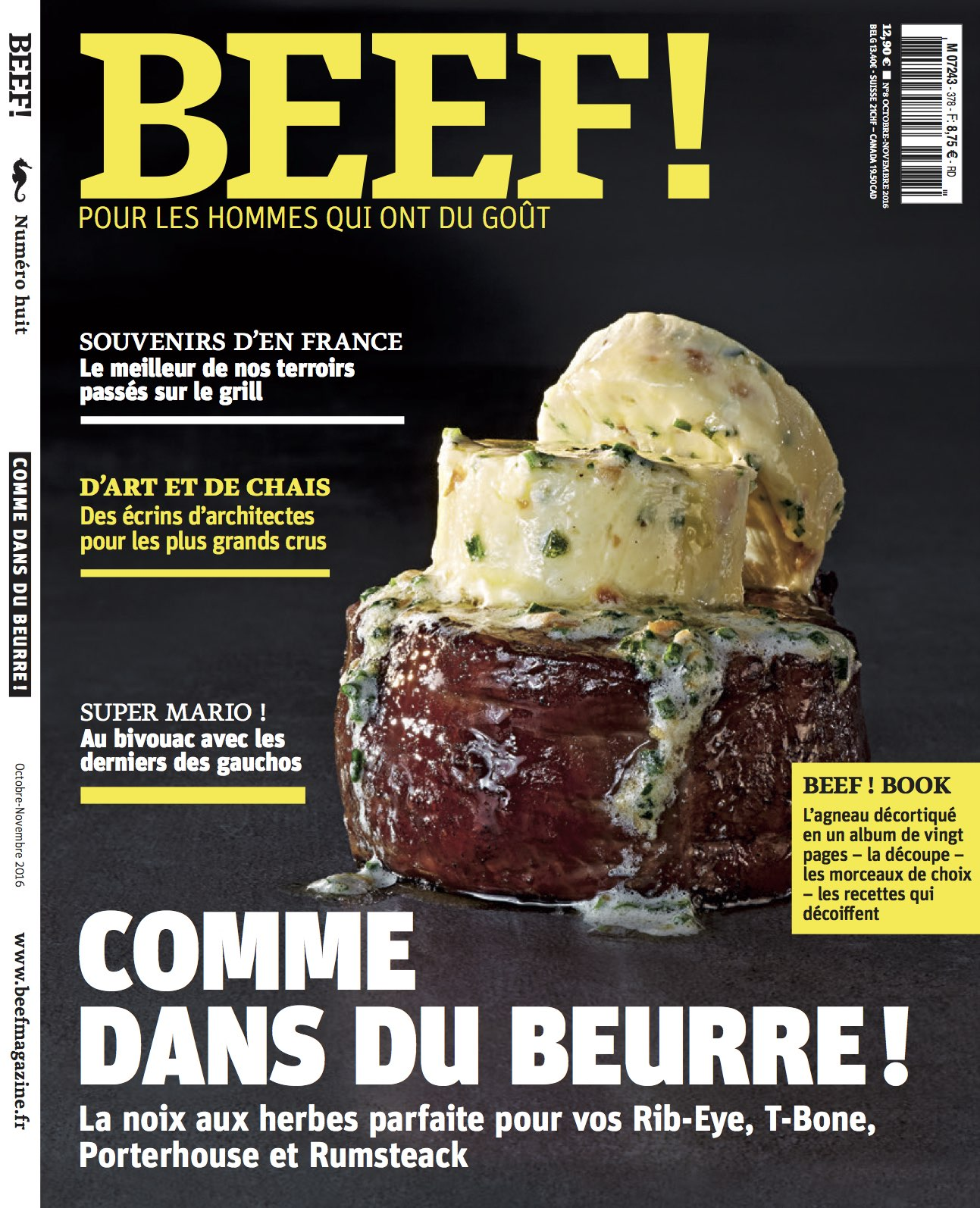 Couverture de l'article dans Beef Magazine sur le boeuf d'exception